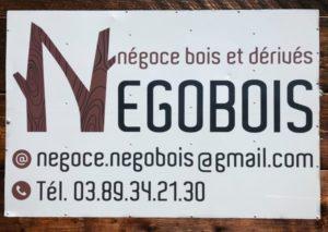 Enseigne entrée Negobois 68 Pulversheim entre Wittelsheim et Ensisheim